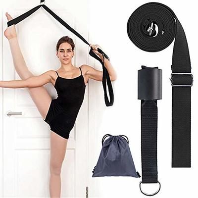 wendergo yoga strap leg stretcher band on door stretch