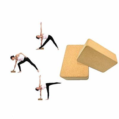 JIMACRO Yoga Block, Yoga Brick Cork 100% Natural Cork Yoga Blocks Non-Slip and Natural Eco-Friendly Yoga Block to Aid Balance Flexibility Suitable for Any Type of Yoga and Pilates (Two)